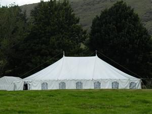 15m x 24m Peg and Pole Marquee