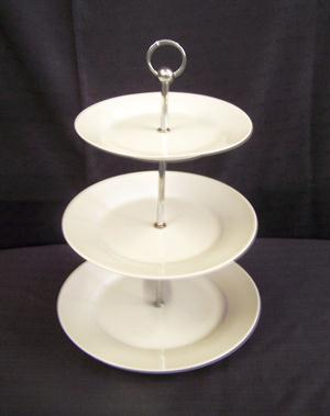 3 Tier White Cake Stand