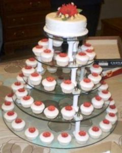 5 Tier Glass Cupcake Stand