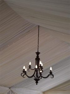 9 Arm Wrought Iron Chandelier