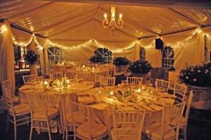 Birthday Function in Eston - Chandelier and draping by Kerry & Sherree Draping
