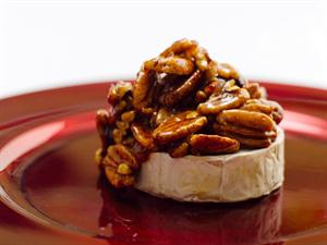 Camembert topped with Caramelised Pecan Nuts