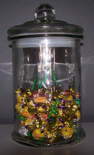 Candy Jar with Lid - plain glass 32cm
