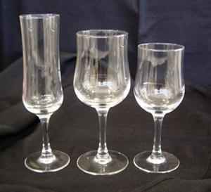 Cepage Fluted Champagne Glass, Red Wine Glass & White Wine Glass