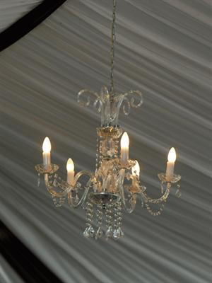 Crystal Chandelier Close Up