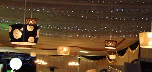 Draping & Lamp Shades and Fairy lights