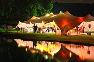 Tent Wedding Catered for by Hamblins Catering