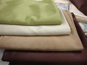 Faux Silk Tablecloths - Chocolate Brown, Mocha, Champagne & Olive Green - about 330 x 330cm