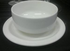 Finger bowl with side plate for soup