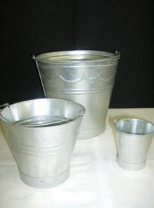 Galvanised Buckets - Small, Medium, Large