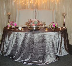 Half Moon Table with King & Queen Chairs