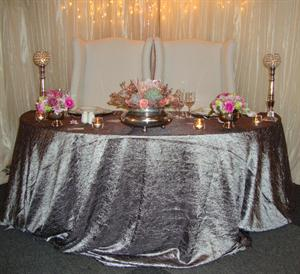 Half Moon Table with King & Queen Chairs and Fairy Curtain Lights