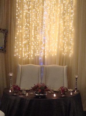 Half Moon table and Fairy lights