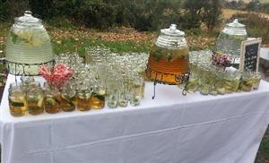 Juice Dispenser with Jars