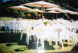 Large 3m Beige Umbrella - ideal for Garden Party Wedding