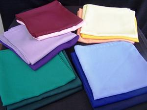 Overlays - Butchers linen Assorted Colours