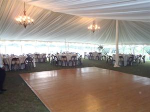 Peg & Pole Marquee with Dance Floor