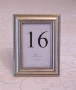 Photo Frame (Silver) - used for table numbers OR names - 13.5cm x 8.5cm (interior dimensions)