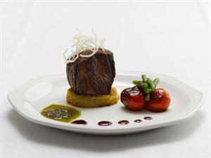 Rare Fillet of Beef on Traditional Pomme Rosti