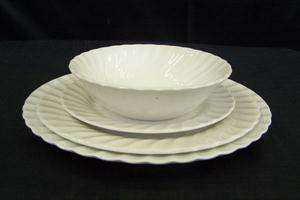 Regency Dinner Plate, Fish Plate, Side Plate & Sweet Bowl