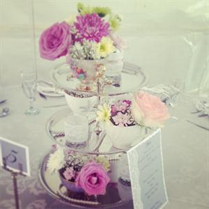 Silver cake stand centre piece