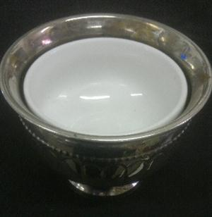Silver vase with finger bowl - sugar, snacks
