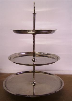3 Tier Cake Stand - Stainless Steel