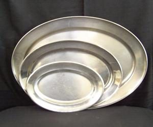Stainless Steel Platters Small, Medium, Large
