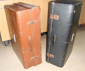 Suitcase - brown and black