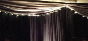Valance with fairy lights