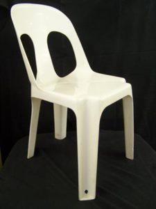 White Ancona Plastic Chair