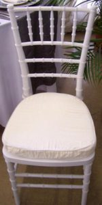 White Tiffany Chair Front View