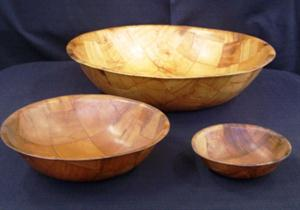 Wooden bowls - small, medium and large