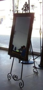 Wrought Iron Mirror Easel - 60cm x 90cm (mirror dimensions) Stands 165cm high