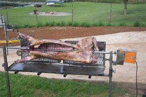 Spit braai - lamb roasting