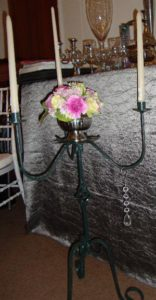 Wrought Iron 3 Candle Holder with onion twist 68cm high