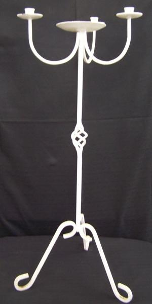 Wrought Iron 3 Stick (White) - 76.5cm high