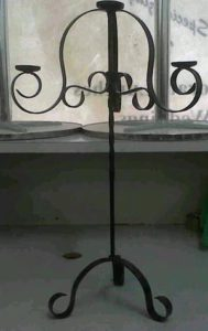 Wrought Iron 3 candle holder