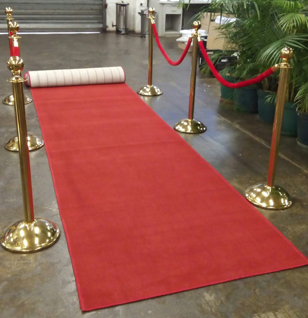 Red carpet & stantions