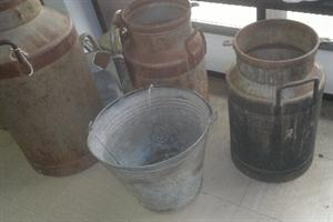 Milk Cans, Buckets- galvanised