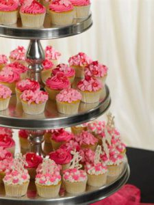 Tiers of Cup Cakes