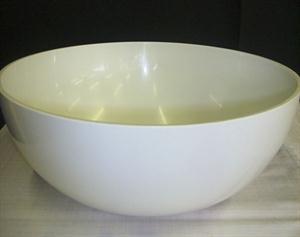 White Perspex Salad Bowl - Medium